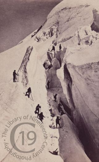 Climbers in the Alps