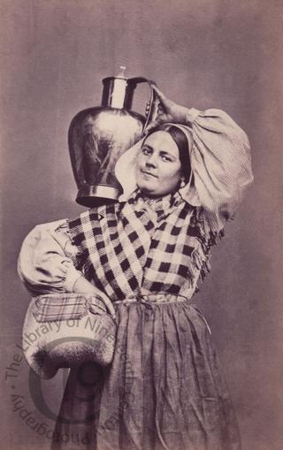 Belgian woman with milk jug