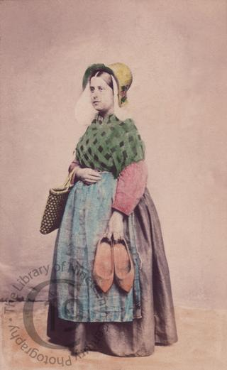Belgian woman with clogs