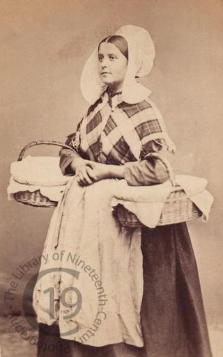 Belgian girl with baskets