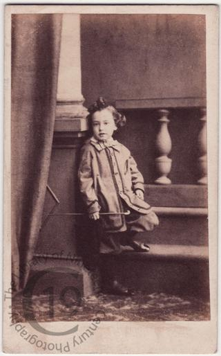 Boy with prop stairs