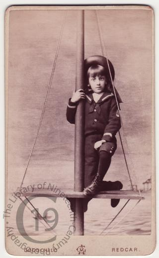 Boy on ship's mast