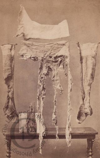 Badly damaged clothing