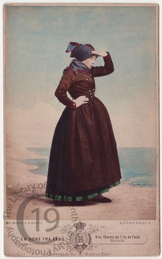 Woman from Fanø in Denmark