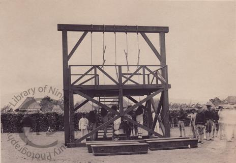 Execution of insurgents in the Philippines