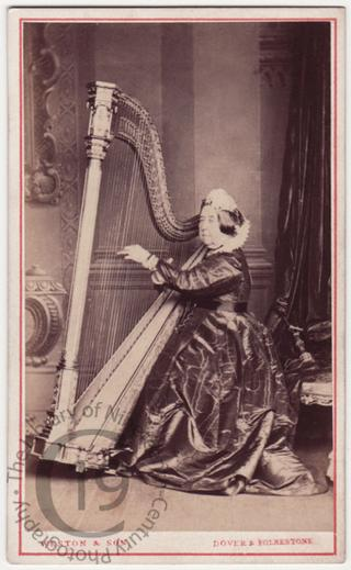 Miss Fagg and her harp