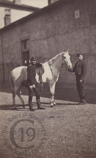 Cavalryman and his horse