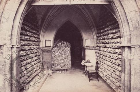 The ossuary at St Leonard's, Hythe