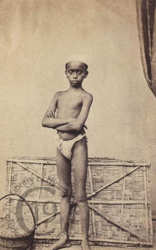 Young boy in loincloth