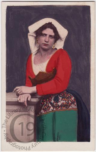 Roman girl in regional costume