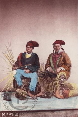Neapolitan fishermen weaving baskets