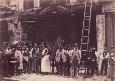 Workmen in Fenchurch Street