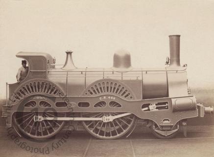 A steam locomotive