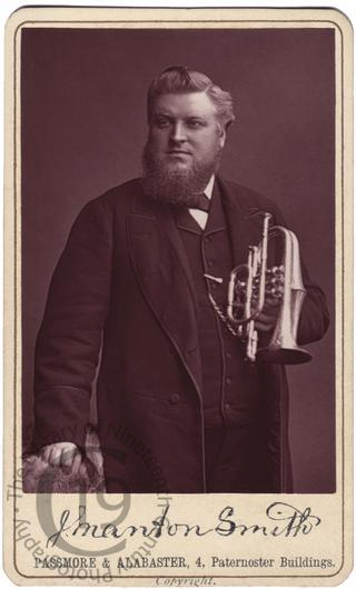 Joseph Manton-Smith and his cornet