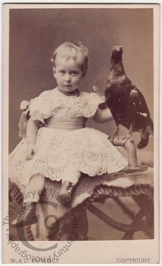 Princess Maud with stuffed bird