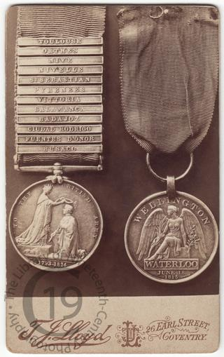 George Tunnicliffe's medals