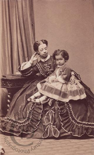 Princess Pauline Metternich and her daughter