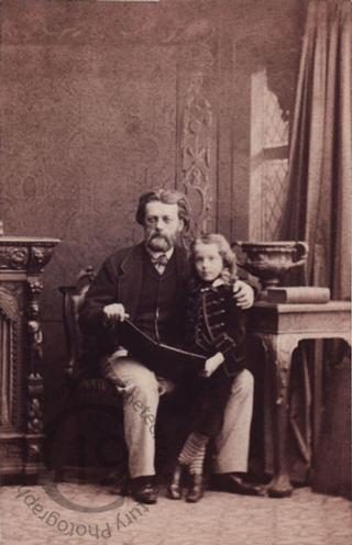 Frederick Lehmann and his son