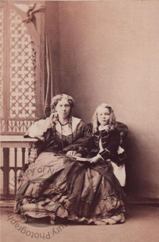 Mrs Frederick Lehmann and her son