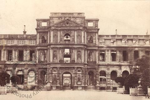 The ruins of the Tuileries Palace