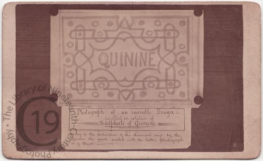 Quinine used as invisible ink