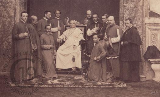 Pope Pius IX with attendants