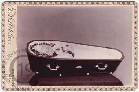 A baby in a coffin