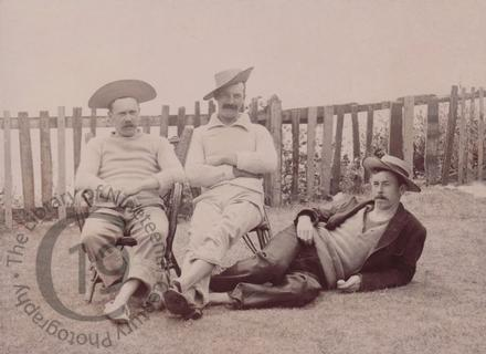 Three men at Rottingdean
