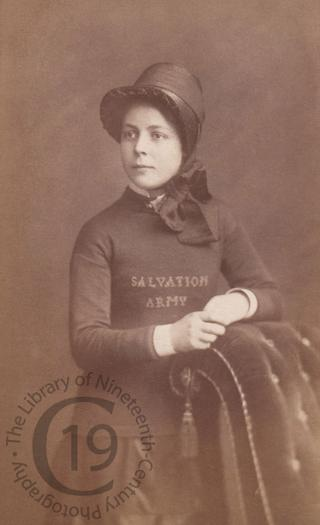 Young woman in the Salvation Army