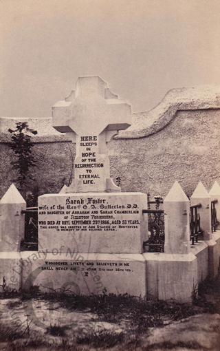 Sarah Foster Butterton, died 1866
