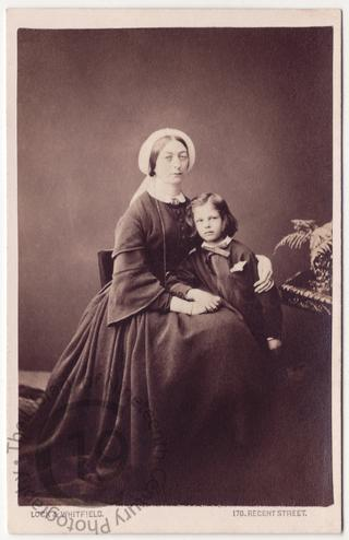 Louisa, Countess of Seafield and her son