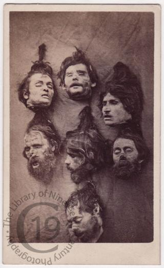 Severed heads of Greek brigands