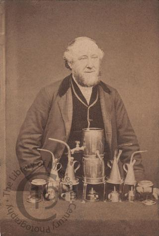 Unidentified man with spirit lamps