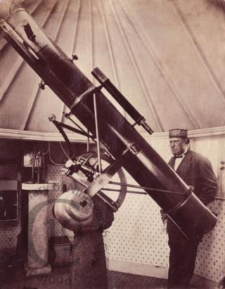 Charles Alexander Johns and telescope