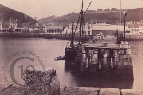 The pier at St Aubin on Jersey