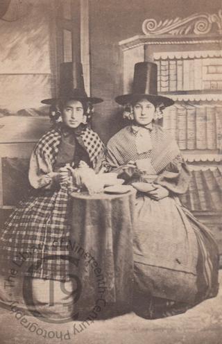 Welsh women drinking tea