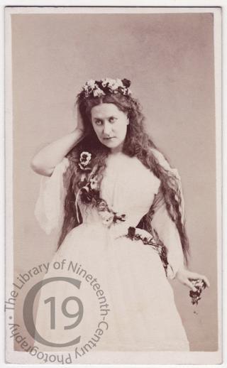 Carlotta Leclercq as 'Ophelia'