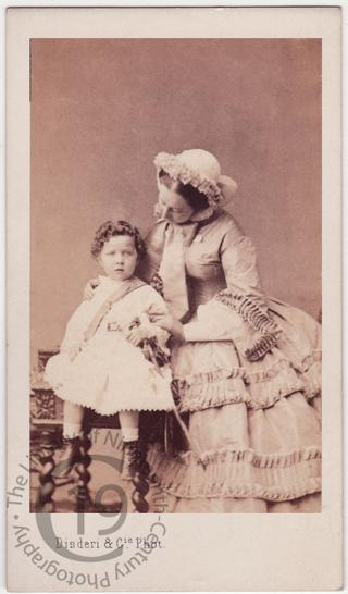 Empress Eugénie with the Prince Imperial