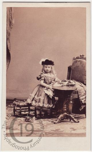 Young girl with toys