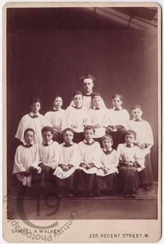 Priest and altar boys