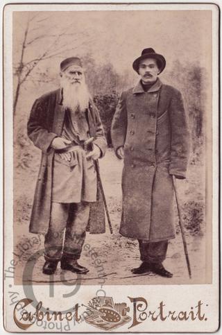 Leo Tolstoy and Maxim Gorky