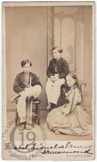 Mabel, Lionel and Ernest Drummond