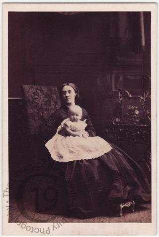 Mrs George Baden Crawley and child