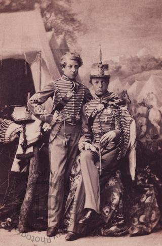 The comte d'Eu and the duc d'Alençon