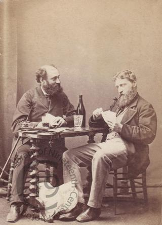 Unidentified men playing cards