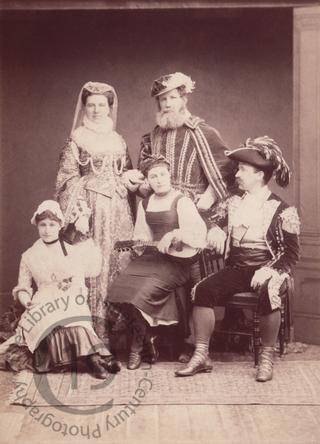 Revellers in fancy dress