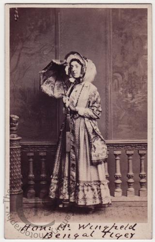 Hon Lewis Wingfield as 'Miss Yellowleaf'