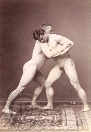 Nude wrestlers