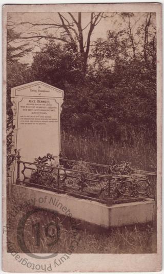 Alice Bennett, died 1877
