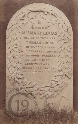 Mary Lucas, died 1873